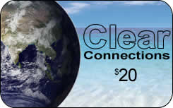 Clear Connections international prepaid phone card