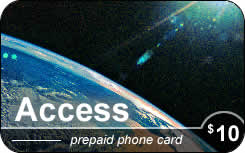 Access international prepaid phone card