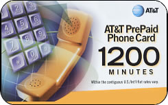 AT&T international prepaid phone card