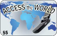 Access the World international prepaid phone card