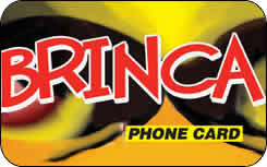 Brinca international prepaid phone card