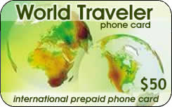 MCI World Traveler international prepaid phone card