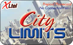 City Limits international prepaid phone card