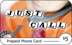 Just Call international prepaid phone card