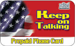 Keep on Talking international prepaid phone card