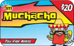 Muchacho international prepaid phone card
