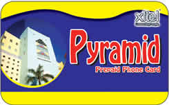 Pyramid international prepaid phone card