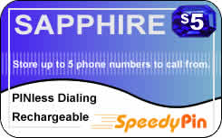 Sapphire international prepaid phone card