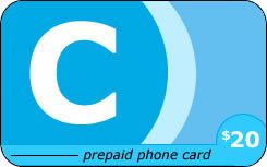 The 'C' international prepaid phone card