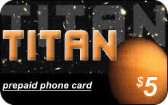 Titan international prepaid phone card