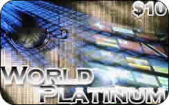 World Platinum international prepaid phone card