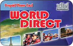 World Direct international prepaid phone card